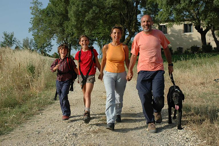 Via Francigena with the family