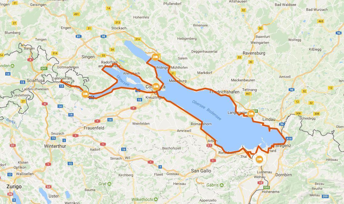 Lago Di Costanza Germania Cartina.Il Lago Di Costanza In Bicicletta