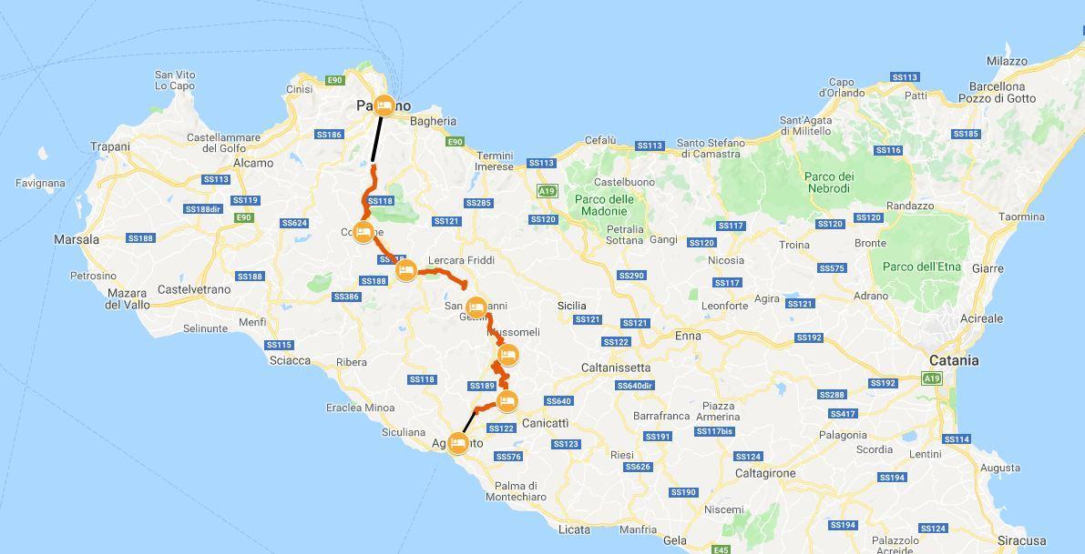Cartina Barcellona Dettagliata.La Magna Via Francigena Siciliana Da Palermo Ad Agrigento