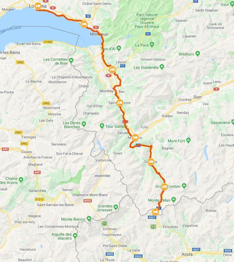 Cartina Muta Svizzera Cantoni.La Via Francigena In Svizzera Da Losanna Al Gran San Bernardo
