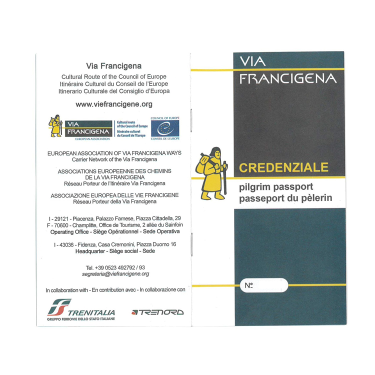 Pilgrim passport – Via Francigena