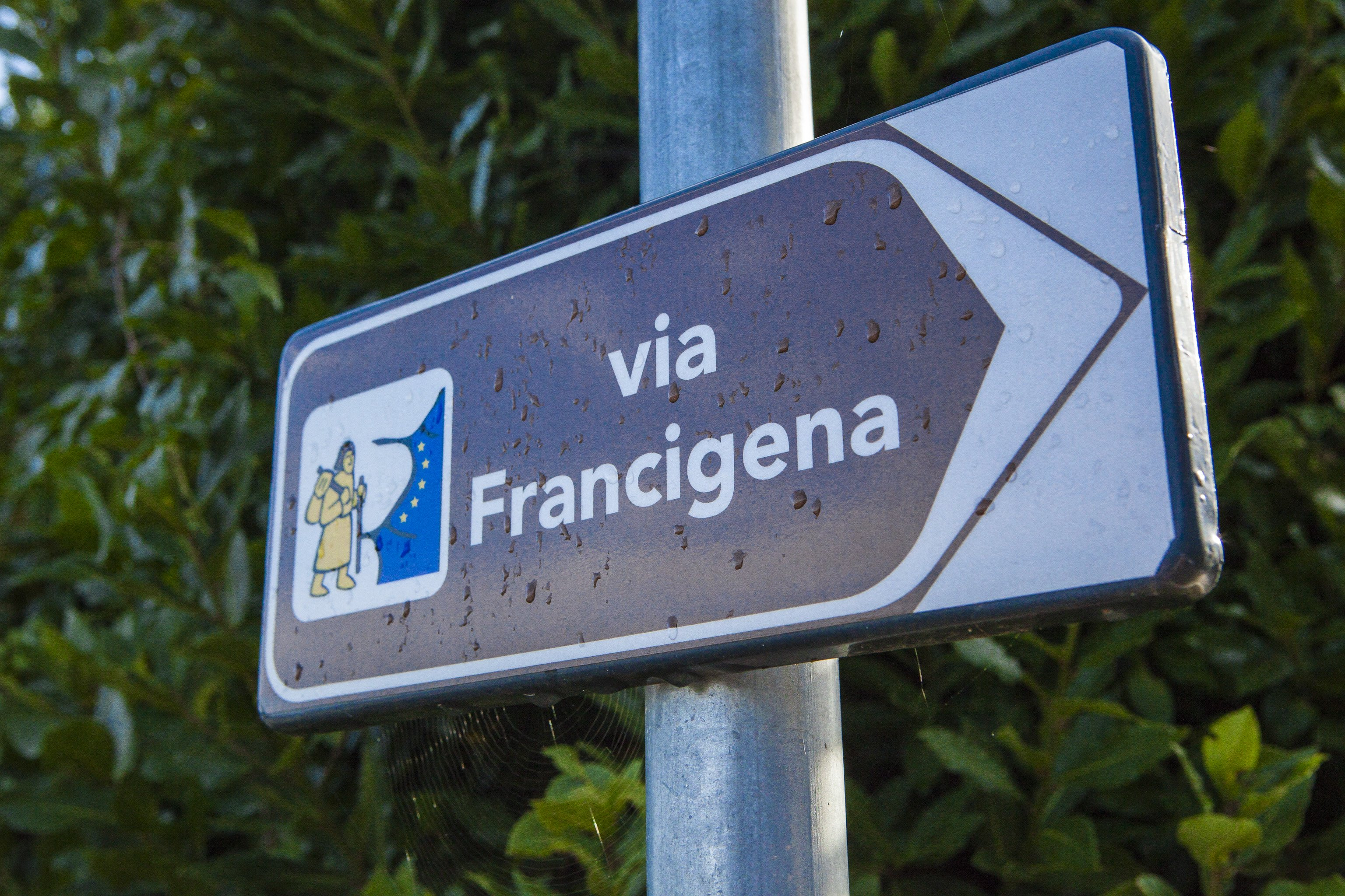Cartello Via Francigena